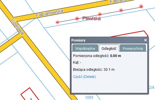 ul. Fabianowska od ul. Kolejowej - mapa