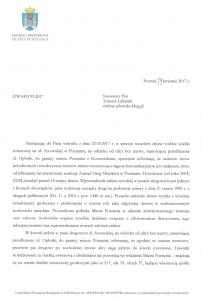 Odpowiedź w sprawie nasadzeń drzew wzdłuż ścieżki rowerowej na ul. Sycowskiej w Poznaniu